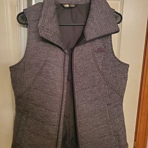 North face grey vest large